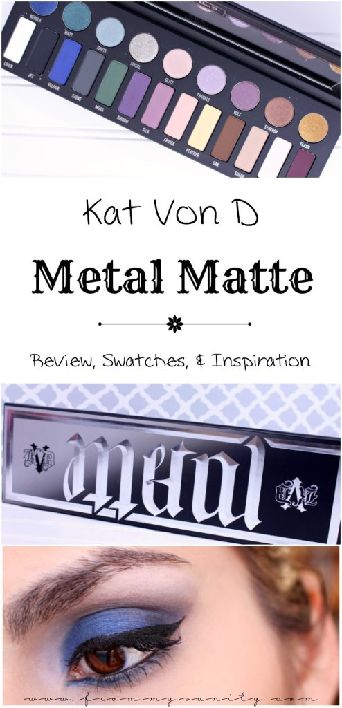 Oh my goodness, the Kat Von D MetalMatte eyeshadow palette looks SO pretty! Check out the swatches and eye looks you can create using this palette!