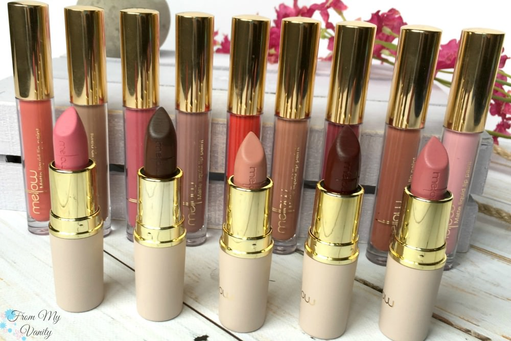 Mellow Cosmetics Liquid Lip Paints & Creamy Matte Lipsticks