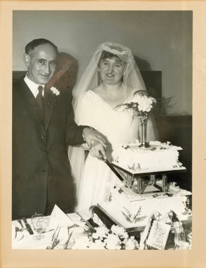 Mr and Mrs Weissenberg - wedding, 1960