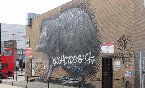 Street art animal