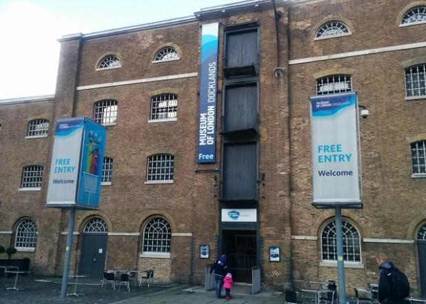 Edificio del Museum of London Docklands, en West India Docks