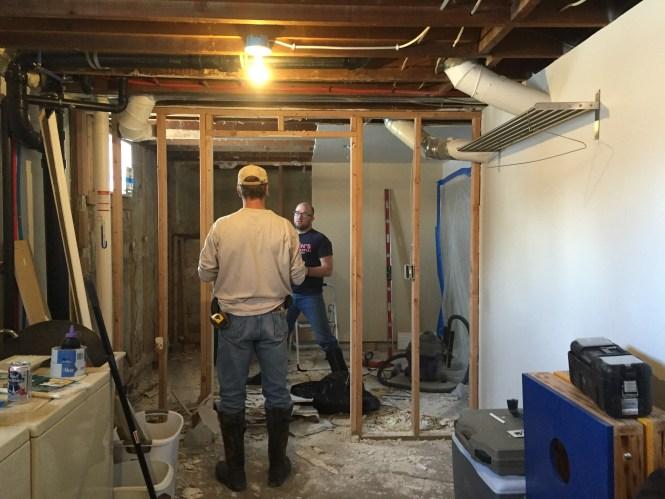 Demoed walls into laundry room