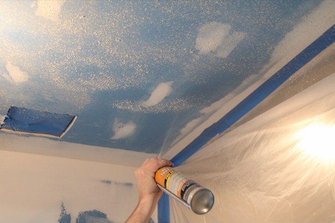 Homax wall texture orange peel on ceiling