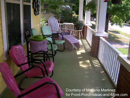 Front Porch Decorating Ideas   Front Porch Ideas spruce up your porch for summer with beautiful colors of paint and a dose  of creativity