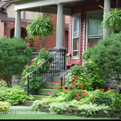 Medium Of Front Step Landscaping Ideas