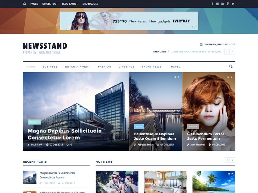 Newsstand Affiliate WordPress Theme by GoodLayers