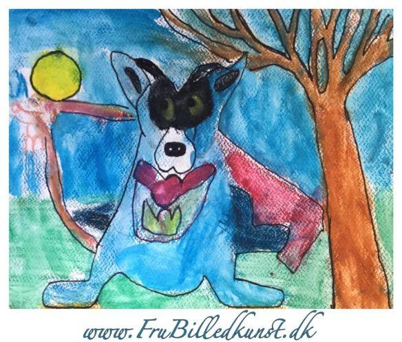 Secret Blue dog - 2.klasse billedkunst