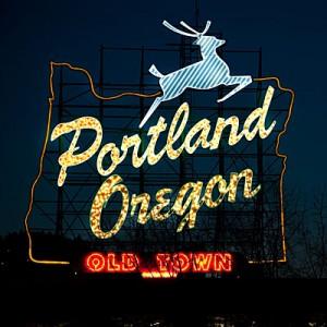 Portland, Oregon, White Stag Sign