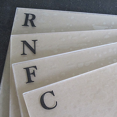Acrylic File Cards - C. Rule
