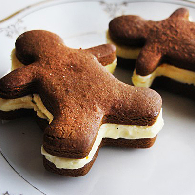 Gingerbread Men With Frozen Orange Custard - Beekman Boys