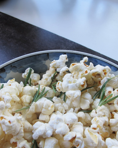 Rosemary infused popcorn -
