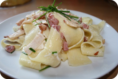 Family friendly Frugal Meals – Lemon Turkey Pappadelle Pasta….