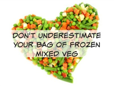 Don't underestimate your bag of frozen mixed veg