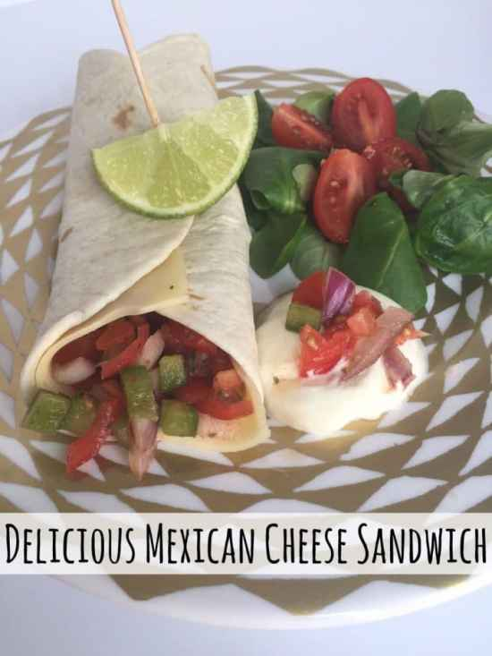 Delicious mexican cheese sandwich