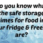 Do you know what the safe storage times for food in your fridge & freezer are?