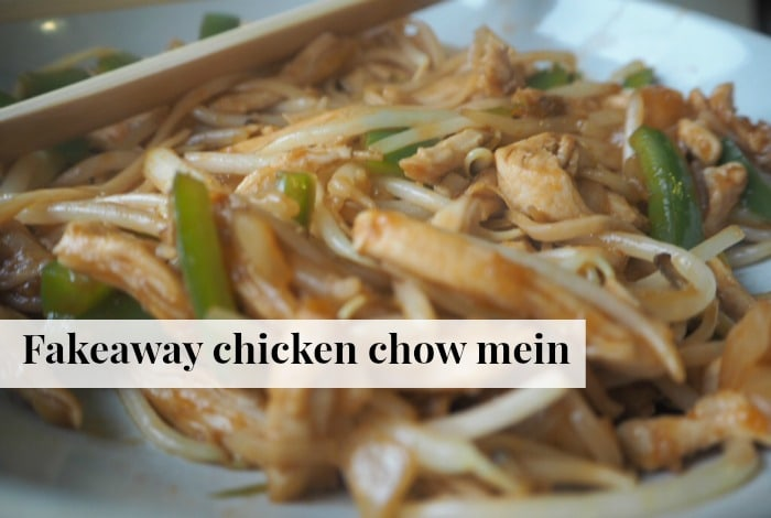 Fakeaway chicken chow mein….