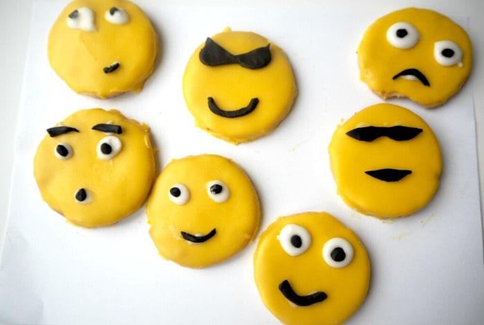 Homemade emoji biscuits….