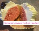 Strawberry Lemonade Kool Aid cupcakes!
