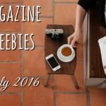 Free Benefit Ready Set Brow and more Magazine Freebies this July….