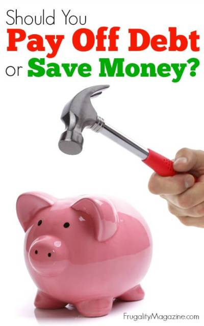 Should You Pay Off Debt Or Save Money?