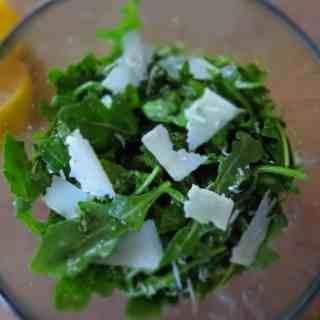 Arugula Lemon Basil Parmesan Salad