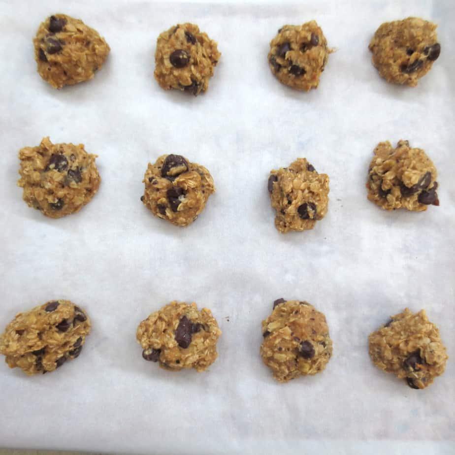 Banana Peanut Butter Oat Chocolate Chip Cookies (Gluten-Free ...