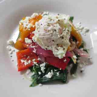 Mediterranean Vegetables With Poached Egg