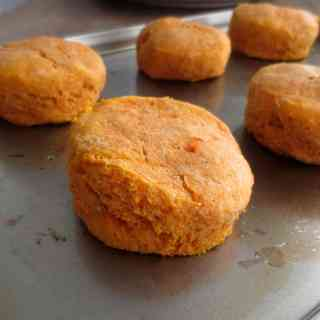 Flavorful Whole Wheat Sweet Potato Biscuits by Frugal Nutrition