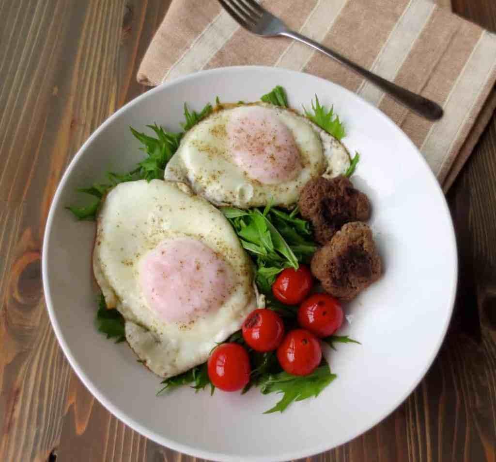 Breakfast Salad with Homemade Sausage