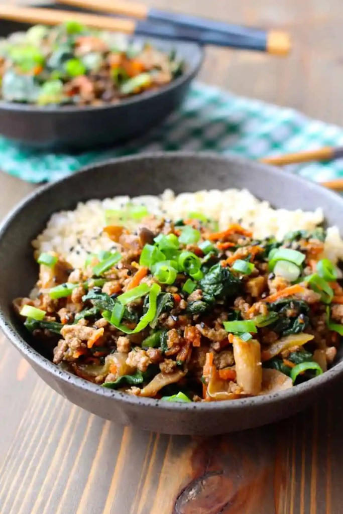 Gingery Ground Pork or Beef Stir Fry by Frugal Nutrition #dinner #budget #realfood