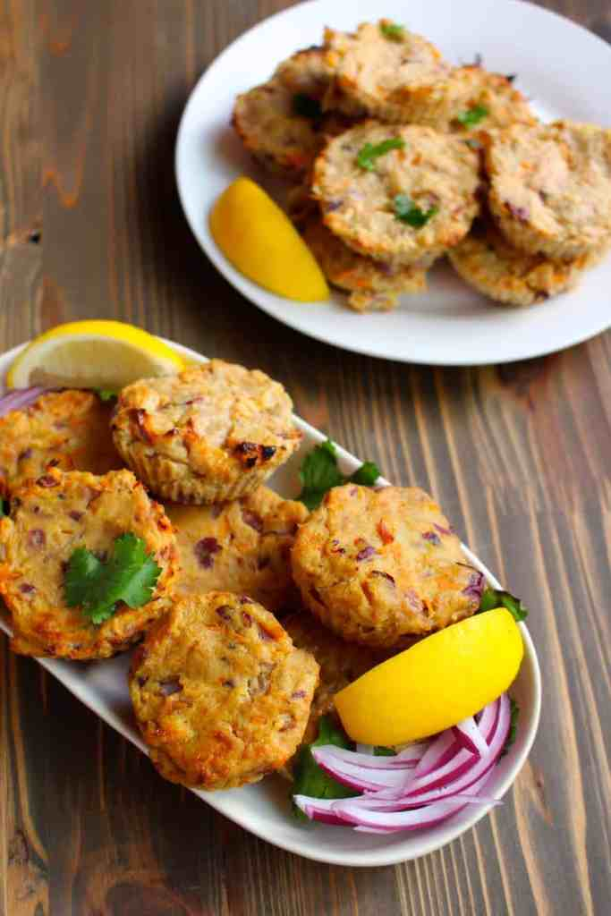Spicy Tuna Cakes with Sweet Potato, Carrots, and Jalapeño by Frugal Nutrition