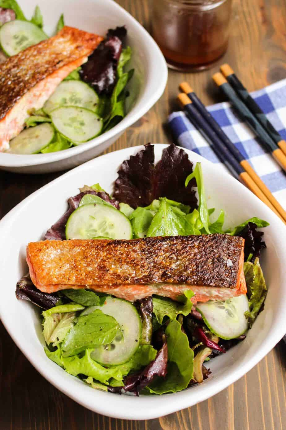 Simple Pan-Seared Salmon | Frugal Nutrition