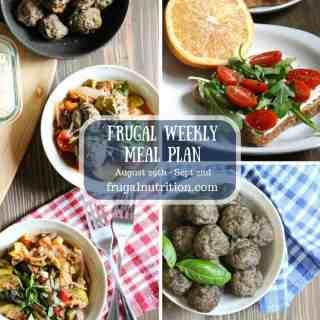 August 29-Sept 2 Frugal Weekly Meal Plan