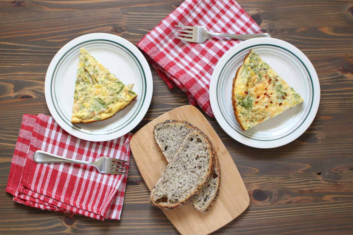 Easy Frittata with Broccoli and Cheddar | Frugal Nutrition