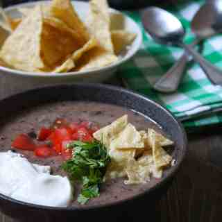 Black Bean Soup with Kale | Frugal Nutrition