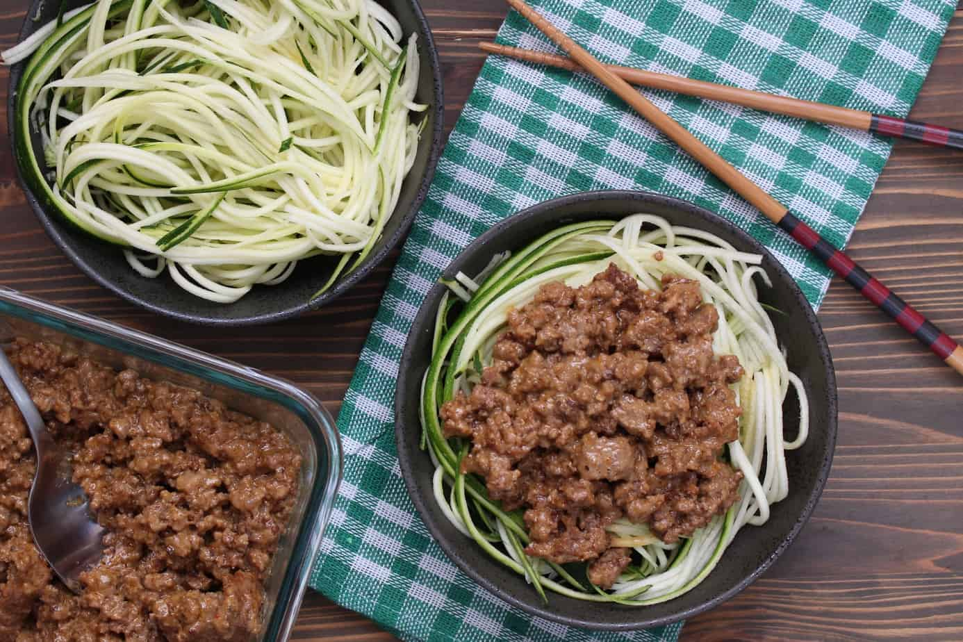 Thai Coconut Beef & Zucchini Noodles | Frugal Nutrition