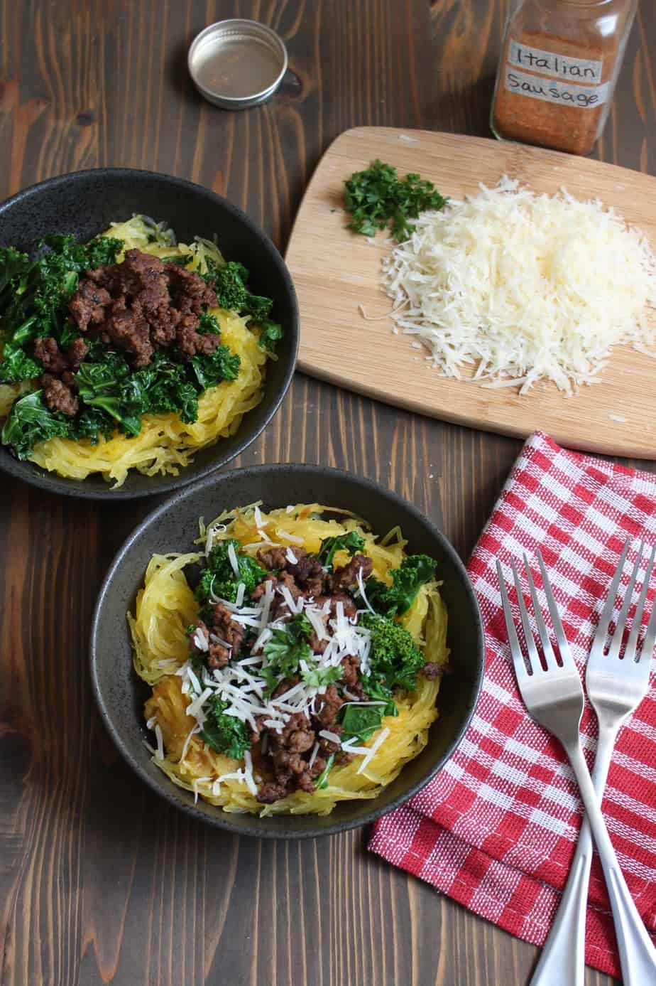 Easy Paleo Spaghetti Squash Bowl | Frugal Nutrition