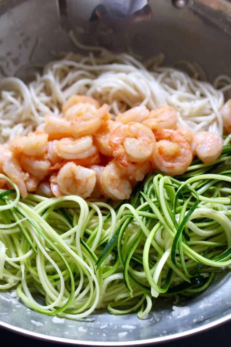 Coconut Garlic Shrimp Pasta | Frugal Nutrition