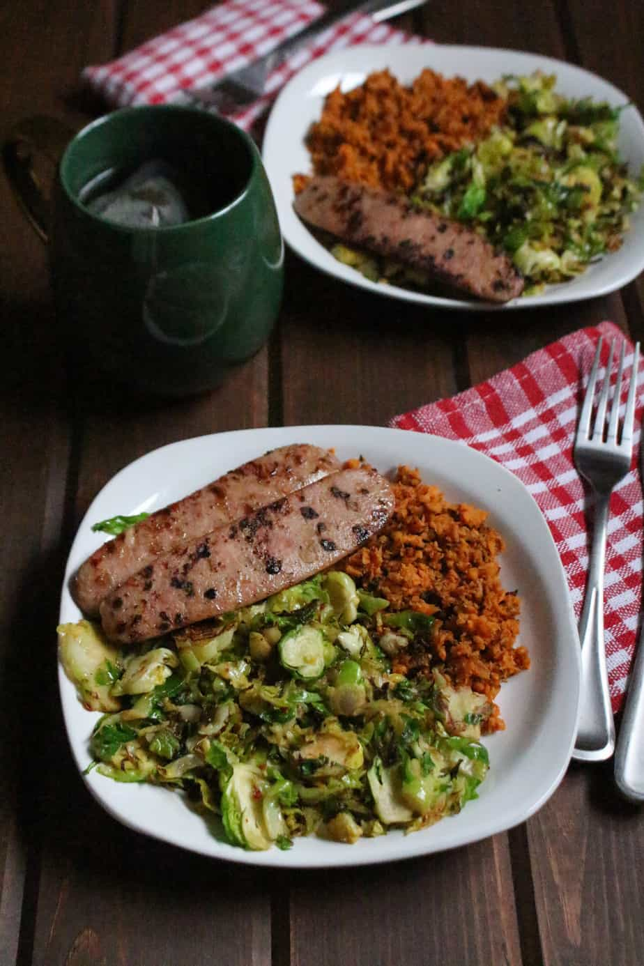 Whole30 Brussels & Sweet Potato Hash | Frugal Nutrition