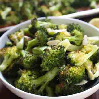 Whole30 Lemon and Almond Roasted Broccoli   Frugal Nutrition