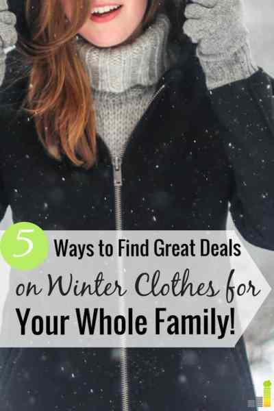 5 Ways to Find Great Deals on Winter Clothes - Frugal Rules