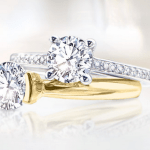 Contest ~ Enter to Win a French-Set Halo Diamond Band Engagement Ring Set!