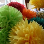 DIY Tissue Paper Party Flowers