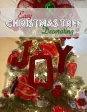 Easy Christmas Tree Decorating