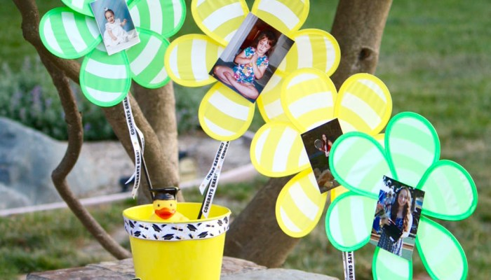 Outdoor Graduation Party Centerpiece