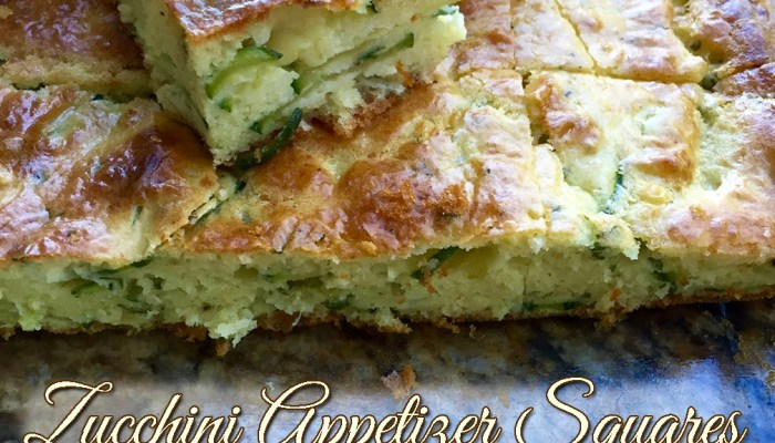 Zucchini Appetizer Squares