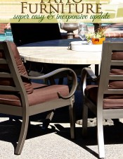 Easy Patio Furniture Update