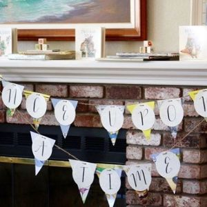 Our storybook babyshowerbanner is so easy to make amp wehellip