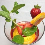 Strawberry Orange Mint Infused Water