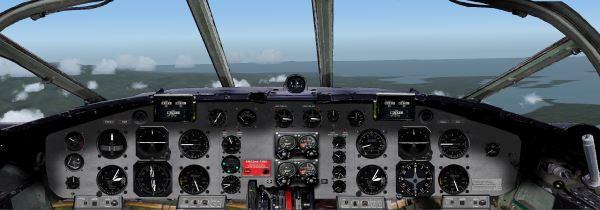 NLR widescreen 2 D cockpit RH